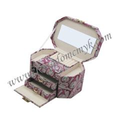 Fabric Hinge locked Make up Box