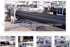 Plastic pipe extrusion lines