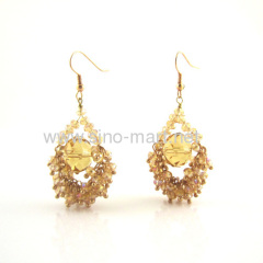 Chadelier golden earrings