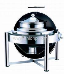 Stainless steel round soup station for hotel