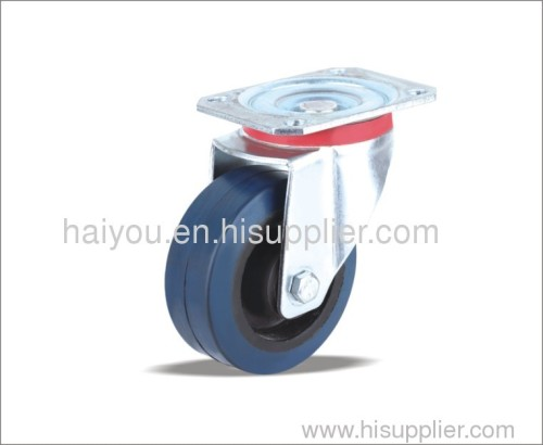 swivel casters with bule rubber