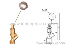 Brass floating ball actuated valve