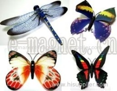 Dragonfly Fridge Magnet & Butterfly Fridge Magnet