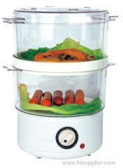 2 tiers mini electric food steamer