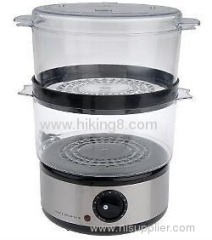2- layer plastic Food steamer with 400W