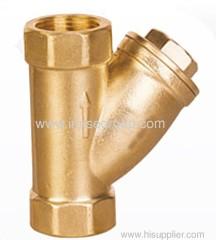 Threaded brass strainer