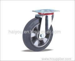 black rubber casters Swivel Caster
