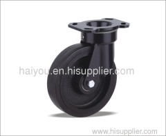 casters with rubber wheel industrial caster
