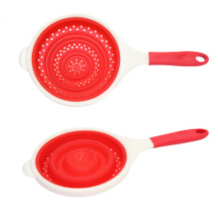 Silicone Collapsible Colander With Handle/Foldable Colander