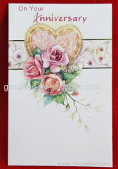 Anniversary flower card