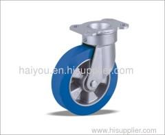 industrial casters bule polyurethane wheel