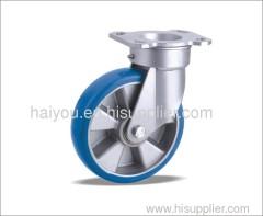 85A bule polyurehane wheel casters