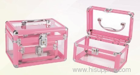 Clear Acrylic Case Acrylic Make Up Case Train Case From China