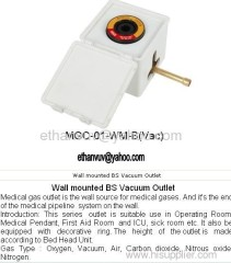 Wall Mounted BS Vacuum Outlet