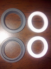 filled black PTFE ball valve gasket