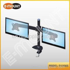 Double vertical monitor stand