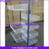 KingKara Iron Wire Basket Hanging Display Rack