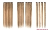 Clip in Hair Classic Style 7pcs/set Silky Straight p18/613