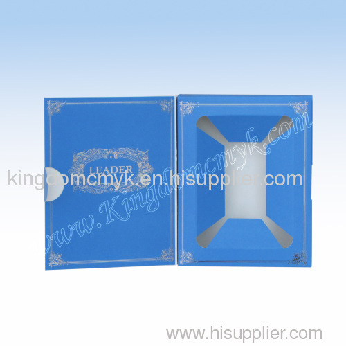 Blue Display Box with Holographic Hot Stamping