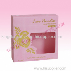 Pink Flocking Paper Box