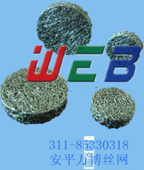 knitted wire mesh product
