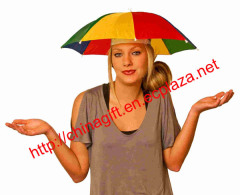 Hand free Head Umbrella Hat