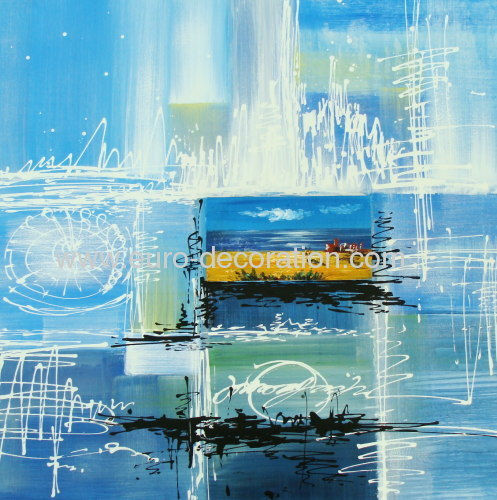 Original Abstract Oil Painting Modern