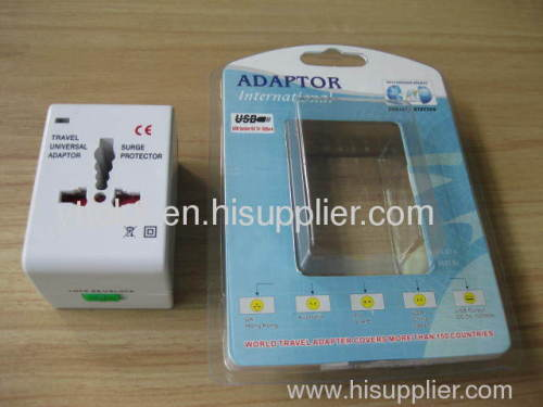 Universal Travel Adapter with USB 5V 1A