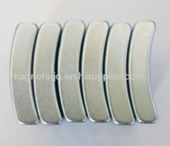 N33-N52/33M-48M/33H-48H/30SH-45SH Arc NdFeB/Neodymium permanent magnet with Zn Coating