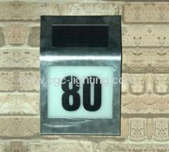 Stainless Steel Solar House Number Light