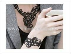 Silicone black Hollow Bracelets