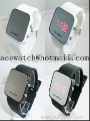 Promotional gift Led silicone wrist watch mirror bracelet