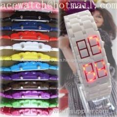 HOT plastic led watch