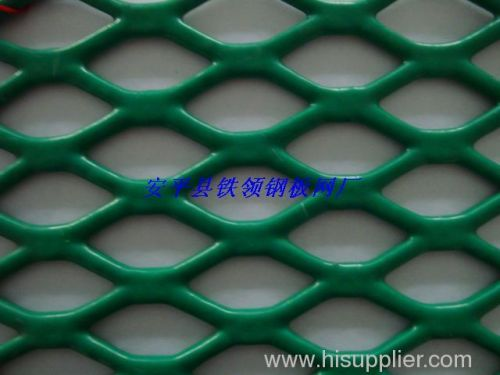 green powder coating expanded metal meshes