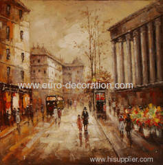 Handmade Street Landscape Paintings