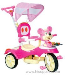 baby tricycle with mickey head