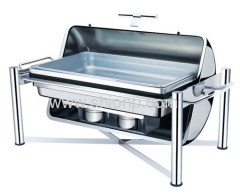 st.st. oblong chafing dish
