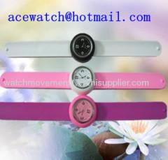 silicone watch silica gel wristwatches slap band watch B