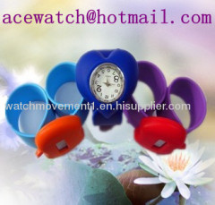 silicone watch silica gel wristwatches slap band watch D