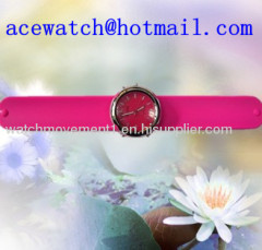 silicone watch silica gel wristwatches slap band watch F