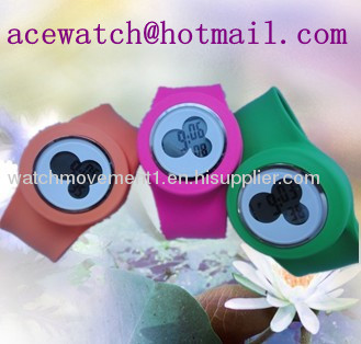 silicone watch (Mikey watches) silica gel wristwatches slap band watch I
