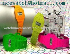 silicone watch (super thin silica gel wristwatches) slap band watch K