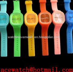 silicone watch (jelly watch) silica gel wristwatches slap band watch N