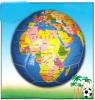 earth map soccer ball rubber football