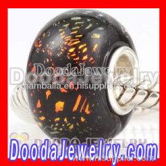hot saling cheap european style dichroic foil beads