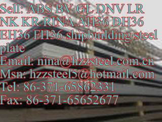 ABS AH36/ABS DH36/ABS EH36/ABS FH36 shipbuilding steel plate/marine steel plate