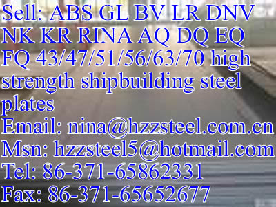 GL AQ47/GL AQ51/GL AQ56/GL AQ63/GL AQ70 shipbuilding steel plate
