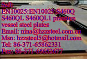 EN10025:S460Q S460QL S460QL1 pressure vessel steel plates