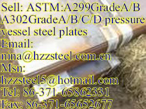 ASTM:A299GradeA/A299GrB pressure vessel steel plates