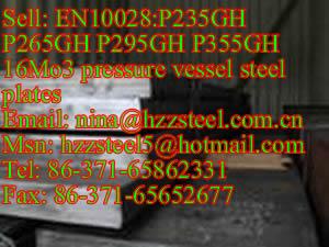 EN10028:P235GH P265GH P295GH pressure vessel steel plates